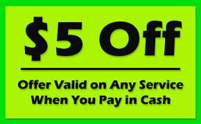 $5 Off - Offer Valid on Any Service When You Pay in Cash, henrico, chesterfield, hanover, powhatan, goochland, hopewell, colonial Heights, ashland, glen allen